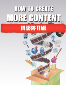 How To Create More Content In Less Time by Michelle Chance-Sangthong - Book Cover